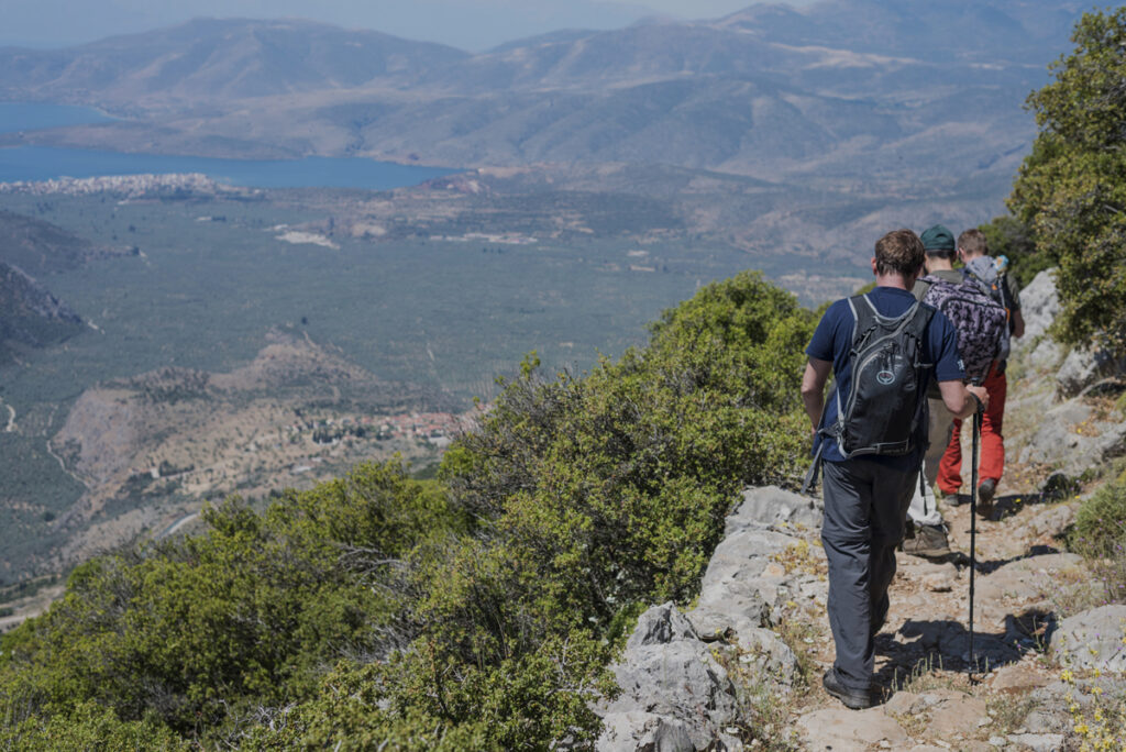 Hiking in forests and caves of Parnassos